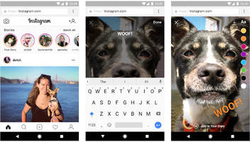 Create Instagram stories in your phone's web browser