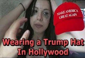 Woman Wears A Trump Hat And Walks Around Hollywood