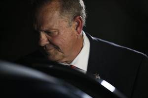 Moore Resists Republican Leaders' Call for Him to Drop His Senate Race
