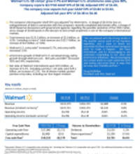 Walmart U.S. Q3 comps grew 2.7% and Walmart U.S. eCommerce sales grew 50%, Company reports Q3 FY18 GAAP EPS of $0.58; Adjusted EPS of $1.00, The company now expects full-year GAAP EPS of $3.84 to $3.92, Adjusted full-year EPS of $4.38 to $4.46