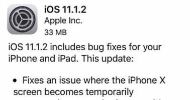 Apple Outs iOS 11.1.2 to Fix iPhone X Unresponsive Screen Issue in Cold Weather