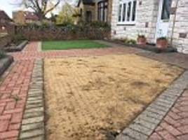 essex grandmother's artificial lawn stolen
