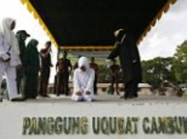 Indonesian woman brutally caned for adultery