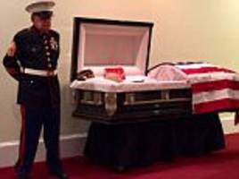 Vietnam War veteran stands guard over his buddy's casket
