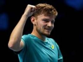 david goffin earns atp finals last four clash with federer