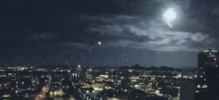 An Unexplained Light Flash Over Phoenix Was Captured On Security Cameras