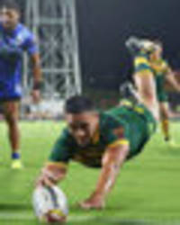 Rugby League World Cup: Valentine Holmes bags record FIVE tries in Australia rout of Samoa