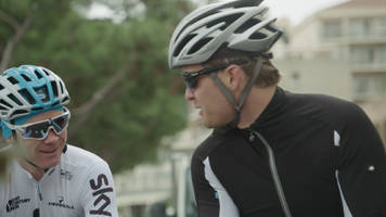 chris froome strays on to nico rosberg's patch in monaco