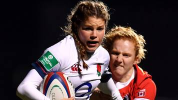breach scores six tries as england women thump canada