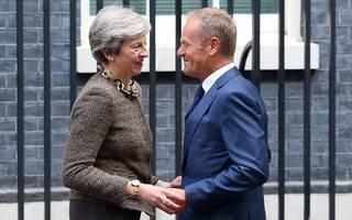 """""""more work to be done"""" on brexit deal tusk tells may"""