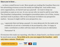 asking members to support its journalism (no prizes, no swag), the guardian raises more reader revenue than ad dollars