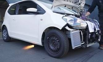 VW Up! Gets Audi TT 1.8T Engine with Flaming Exhaust, Aims for 400 HP, AWD Glory