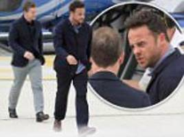 birthday boy ant is locked in tense chat with best pal dec