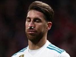 atletico 0-0 real madrid: sergio ramos breaks nose in draw