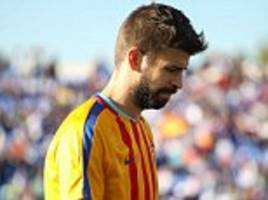 Gerard Pique's booking gives Barcelona defensive headache
