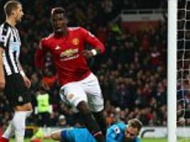 Manchester United 4-1 Newcastle: Pogba scores on return
