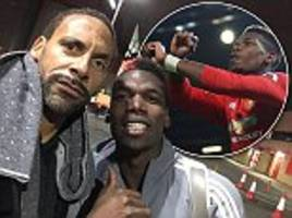 pogba poses with rio as mourinho hails frenchman's return