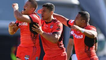 Rugby League World Cup: Tonga defeat Lebanon to reach semi-finals