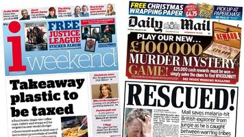 Newspaper headlines: Takeaway container tax and jungle rescue