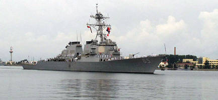 another us navy warship crashes