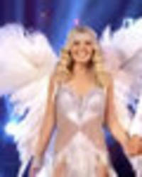 strictly's mollie king channels inner victoria's secret angel in skimpy silver outfit