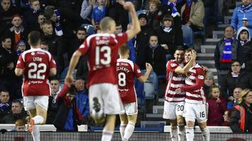 Hamilton beat Rangers to earn first league win at Ibrox since 1926