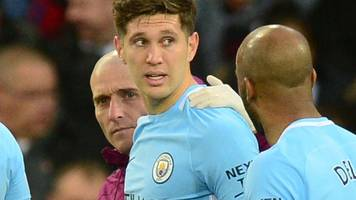 man city's stones set for six-week injury lay-off