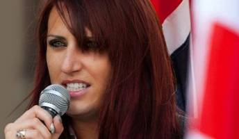 britain first deputy leader arrested over speech at belfast rally