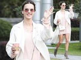 Alessandra Ambrosio looks leggy ahead of VS Fashion Show