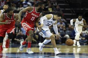 grizzlies live to go: memphis enters a four-game losing streak after a 105-83 loss to the rockets