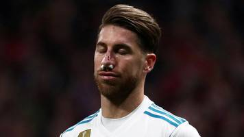 real's ramos broke nose in madrid derby