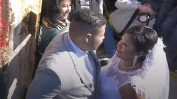 'love has no border': getting married at the us-mexico border's 'door of hope'.