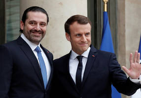 macron briefs netanyahu along with arab leaders on lebanese crisis