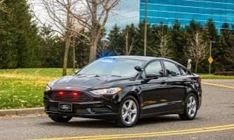 ford special service plug-in hybrid sedan reports for duty