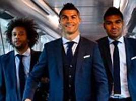 Cristiano Ronaldo and co fly out ahead of clash with APOEL