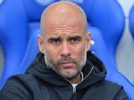 pep guardiola: aguero and jesus 'cannot play together'