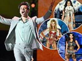 harry styles performs at victoria's secret with three exes