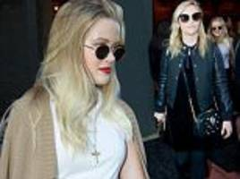 reese witherspoon and ava philippe leave a hamilton show