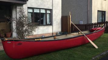 Hogwarts Express rescue family reunited with canoe