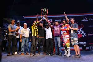 stallion riders reigns supreme in the fourth edition of pune invitational supercross league 2017
