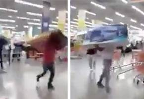Flash Mob Of High Schoolers Steal TONS Of TVs