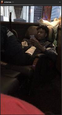 Amber Rose Shows Us 21 Savage's About That iPhone X Life