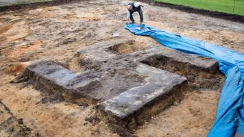 Giant swastika unearthed under Germany sports field