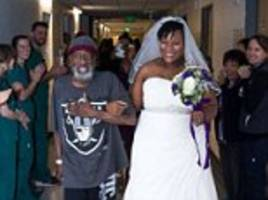 Bride surprises her sick father in San Francisco hospital