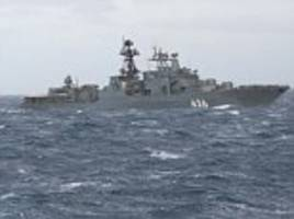 Royal Navy escorts Russian Destroyer out of UK water