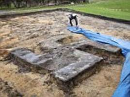 Buried giant Swastika discovered by builders in Germany