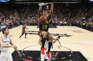 hawks live to go: hawks lose to spurs after hanging close into the 4th quarter