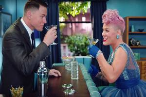channing tatum does all kinds of dance, s&m with p!nk in 'beautiful trauma' music video