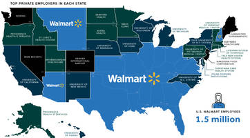 walmart nation: mapping the largest employers in america