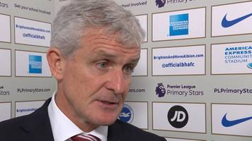 brighton 2-2 stoke: hughes 'disappointed' not to hang on to lead